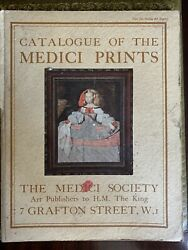 Rare Catalogue Of The Medici Prints Society Art Publishers To H.m The King