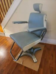 Kochand039s Barber Chair Mid Century Atomic Working Hydraulics Turquoise/chrome