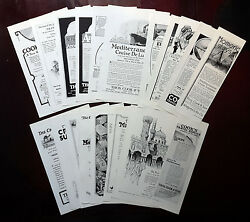 1922-1930 Thos Cook And Son - Lot Of 19 Vintage Original Ad Cruise Ship Belgenland