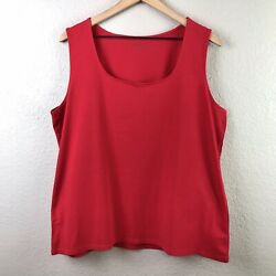 Coldwater Creek Women's 1x Basic Under Tank Top Smooth Stretch Red
