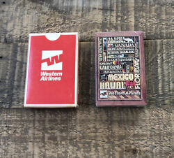 🃏 Western Airlines Travel Destinations Us States/hawaii/alaska Playing Cards