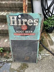 Vintage 1940's Hires Root Beer Sign And Chalk Board