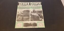 1930-40s Denver Booklet For Colorado Vacation Land And Mountain Parks W/ Pics Euc