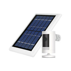 Ring Stick Up Cam Battery With Solar Panel Bundle Deal Camera 1 Pack White