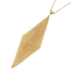 And Co. Mesh Diamond Pendant Necklace 18k Yellow Gold