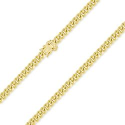 14k Yellow Gold Hollow Miami Cuban Necklace Chain 7.0mm 22-30 -curb Link Men Wm