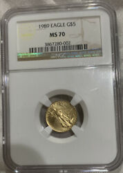 1989 5 Age American Gold Eagle Ngc Ms70 002