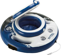 Intex Mega Chill Inflatable Floating 24 Can Beverage Cooler for River Run Tubes