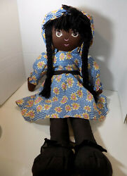 Large Black African Rag Doll Girl Toys Large Raggedy Anne