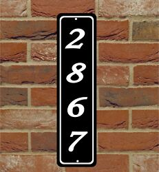 Personalized Home Address Sign Aluminum 3quot; x 12quot; Custom House Number Plaque $9.75