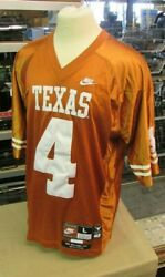 Roy Williams Nike University Of Texas Longhorns 4 Embroidered Jersey Sz Large+2
