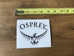 """Osprey Backpacks Black White Sticker Decal Outdoor Hiking Backpack Approx 5"""" New $6.00"""