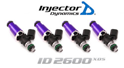 Injector Dynamics 2600-xds Fuel Injector 4pc 60mm For Nissan Sr20det / 240sx