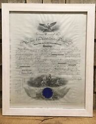 Antique 1912 President William H Taft Signed Navy Lieutenant Appointment Letter