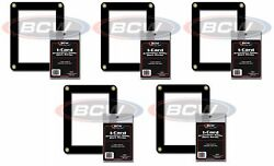 5 BCW Card Screwdown Holders Black Border