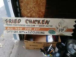 Vintage Hand Painted Howard Johnsonand039s Sign 1953 From Lake George Location.