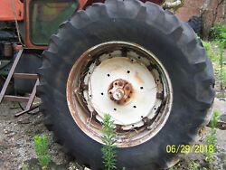 20,8 X 38 Set Of Tires And Rims Spin Out Rims, Ac,ford,john Deere,massey, Case,ih