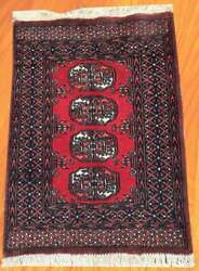 Article 1112 2x3 Afghan Hand Knotted Bokhara Home Decor Area Rug 85 X 63 Cm