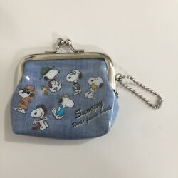 Peanuts Snoopy Charlie Brown Petite Small Cute Coin Purse World Famous Beagle