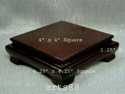 Chinese Traditional Wooden Square Stand / Pedestal For Display