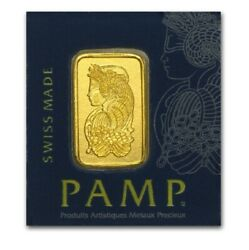 1 Gram Gold Bar Pamp Suisse Lady Fortuna In Assay .9999 Volume Pricing $83.88