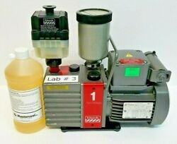 Edwards E2m-1 Vacuum Pump With Oil Mist Filter, Foreline Trap And Pump Oil