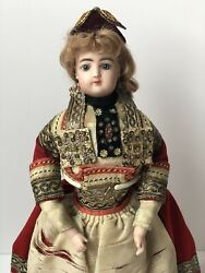 Antique French Francois Gaultier Fashion Lady Doll In Regional Costume