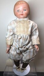 """16"""" Early 1910-1920 Horsman Campbell Kid Or Candy Kid Compo And Cloth Body Sf"""