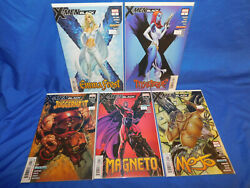 X MEN BLACK COMIC MAGNETO FROST JUGGERNAUT MYSTIQUE MOJO MARVEL 5 lot CAMPBELL