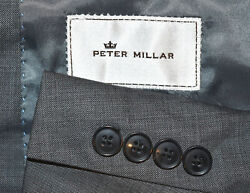 1294 52l Peter Millar Gray Hopsack Like 2 Piece Suit Big And Tall