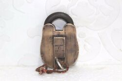 Iron Brass Lock And Key Old Vintage Antique Rare 6-lever Collectible Pa-15
