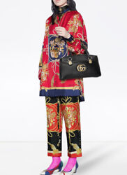 Floral Silk Shirt Blouse- With Tags- Rrp2,460 Aud