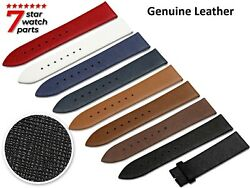 For Seiko Watch Saffiano Leather Flat Strap Band Buckle Clasp Diver Grand