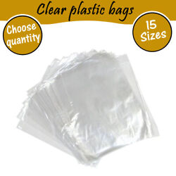 Clear Polythene Poly Plastic Bags For Crafts Food Storage 10 20 100 200 500 1000