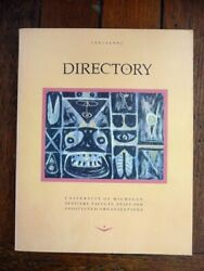 University Of Michigan 1991-92 Faculty And Staff Directory Genealogy