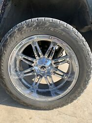 24in Fuel Chevy 8 Lug Wheel And 315/50r24 Nitto Terra Grappler Set Of 4