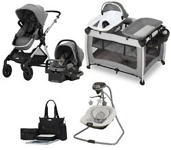 Baby Stroller Travel System With Car Seat Single To Double Modular Design Combo