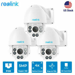 3pcs Reolink 5mp Poe Security Camera Pan Tilt 4x Optical Zoom With Audio Rlc-423