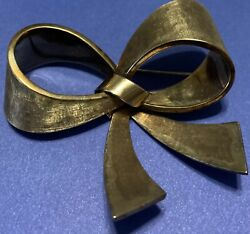 Birks Canada 14kt Yellow Gold Bow Brooch Antique Collectable Hand Made