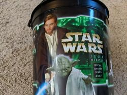 Star Wars Frito Lay Snack Buckets, Aotc, 2002 2 Of 3 Jedi Heroes