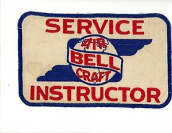 Ww2 Wwii Us Bell Air Craft Service Instructor Overall Size Patch Rare