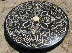 Marble Patio Table Mosaic Art Island Table Top Inlay Art For Multi Use Furniture