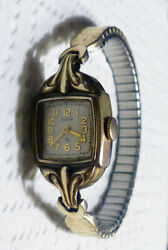 Elgin 15 Jewel And Benrus 21 Jewel Gold Filled Plated Watches Working