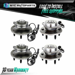 2 Front + 2 Rear Wheel Hub Bearing Assembly For 2003-2006 Lincoln Navigator 4wd