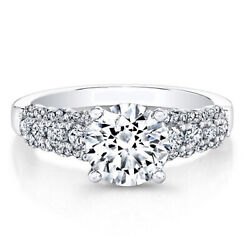 950 Platinum Real Diamond Proposal Ring For Womenand039s Round Cut 0.86 Ct Size 6 7.5