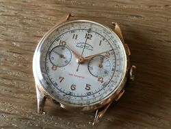 Reloj Chronographie Suisse Wrist Watch - Swiss Vintage Non Magnetic - Gold 18k