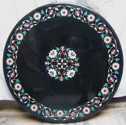 42 Inches Marble Hallway Table Top Inlay With Mother Of Pearl Art Office Table
