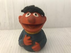 1970s Ernie Muppet Show Finger Puppet Rubber With Hair Vintage Freeusaship