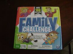 Family Challenge Board Game Spin Master 100 Mini Games Family Night New