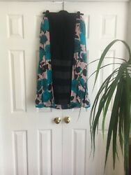 New Christian Dior Fabulous Floral Silk Ribbon Bustier Gown Dress Black Combo 8